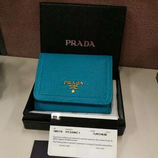 Prada 3 Fold Wallet.  Brand New Bought From London