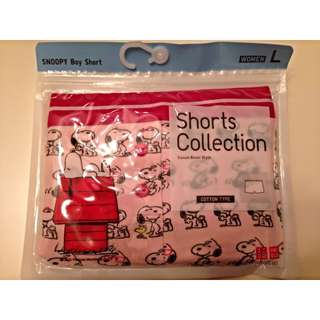Uniqlo Female Boy Short (Pink Snoopy)