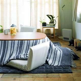 MUJI Cotton Calico Floor Chair [dark brown]