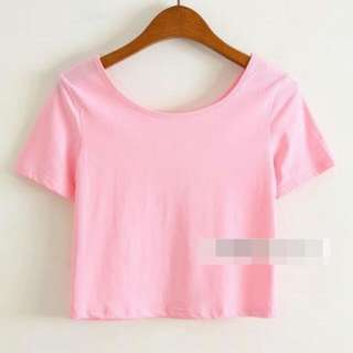 <PO> Plain Crop Tops