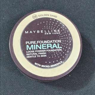 BARELY USED Maybelline Pure Foundation Mineral Loose Powder