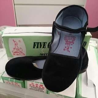 Black Velvet Mary Jane Shoes @ $6 Per Pair. Size 33 - 38. Ideal For Handpainting Or Casual Use.