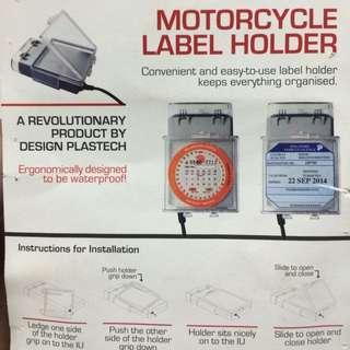 Waterproof Motorcycle Label Holder