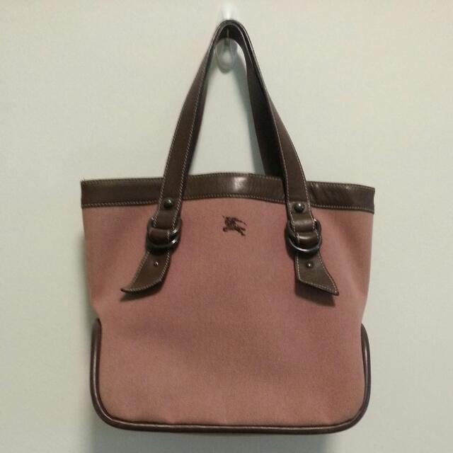 Burberry London Blue Label Canvas Tote Bag In Dusty Pink f5702de13fbd5