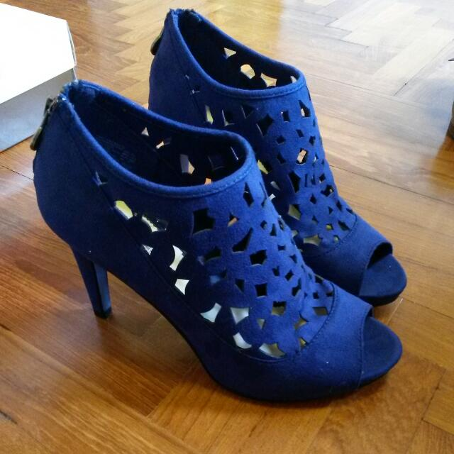 Lela Rose for Payless royal blue suede