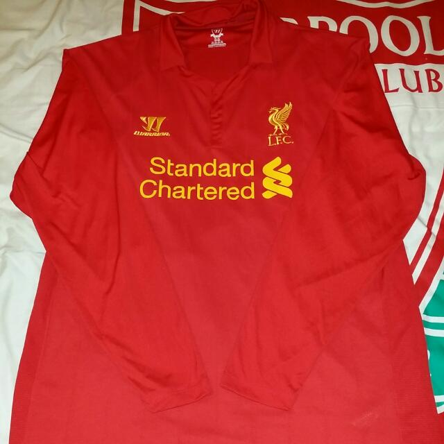 6009d37be Official Warrior Liverpool FC 2012 13 Long Sleeved Home Kit. Size XXL.  Unworn