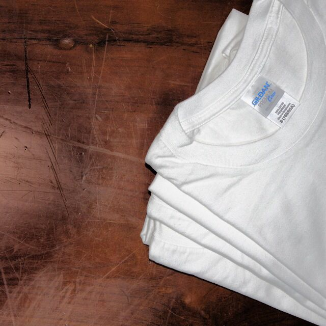Plain White T-Shirts (Tshirt Gildan T-Shirt Custom Print Cotton Tees Tee  Blank DTG Silkscreen)
