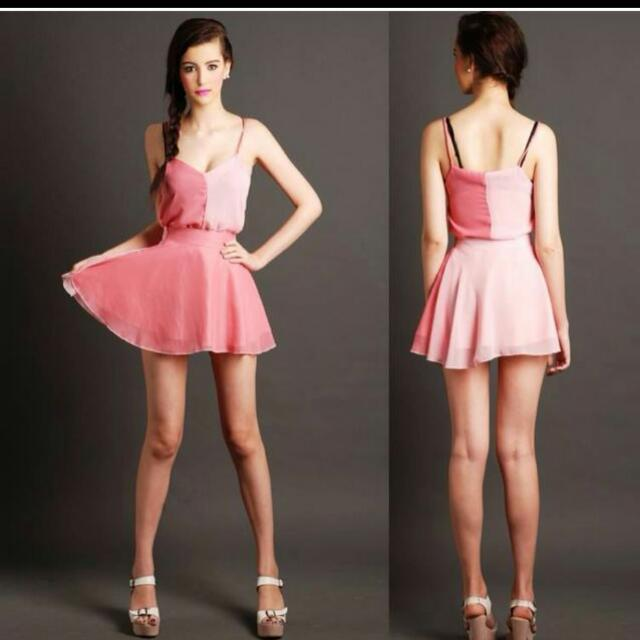 Candy Pink Top And Skirt Set