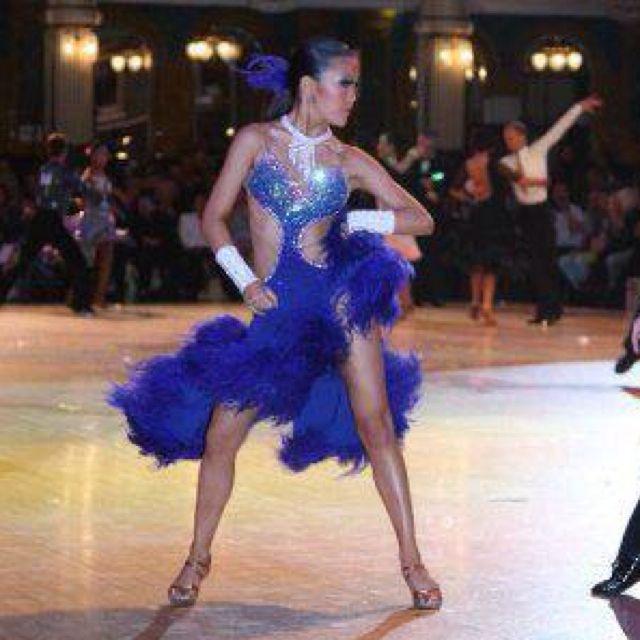 a84f692d521fb Royal Blue Latin Dance Dress Costume, Women's Fashion on Carousell