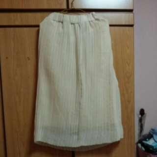 Nude Colour Maxi Skirt