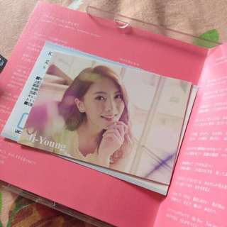 Official Kara Bye Bye Happy Days Jiyoung Photocard