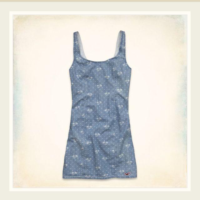 Hollister Tourmaline Chambray Dress