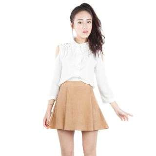 (Pending) The Tinsel Rack Editor's Skirt (Sand) Size L