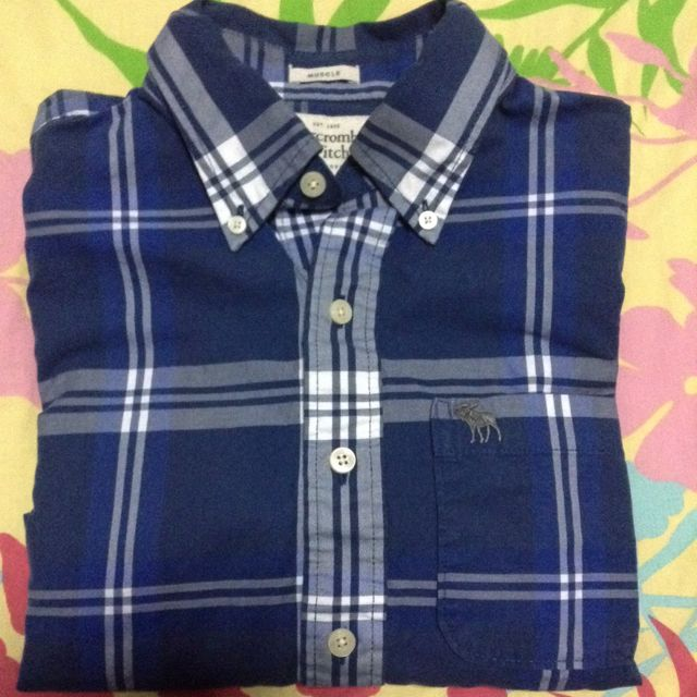 Authentic Abercrombie And Fitch Blue Shirt