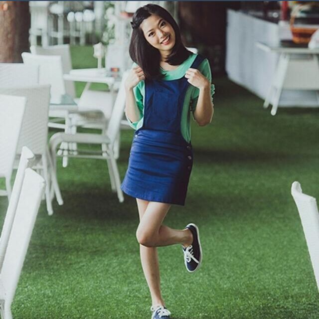 Megagamie As Sweet As You Dungaree in Navy