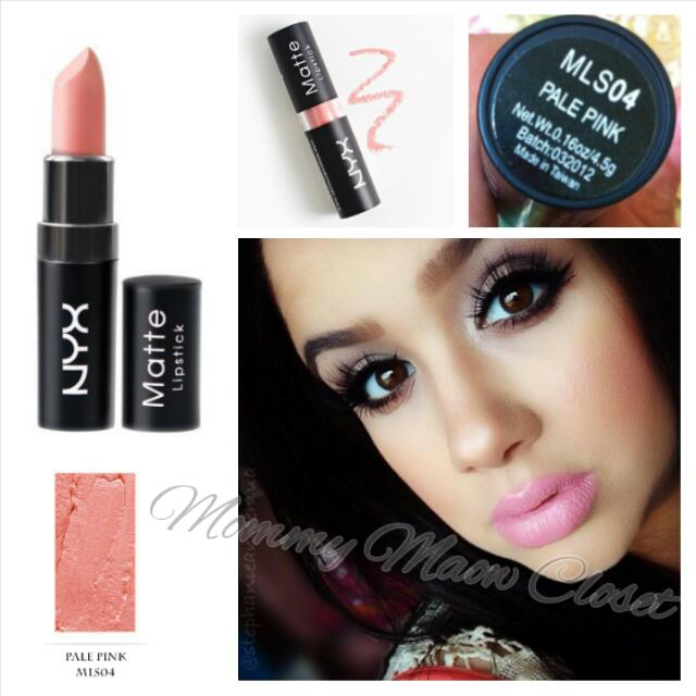 Genuine Nyx Matte Lipstick Mls 04 Pale Pink Light Blue Toned