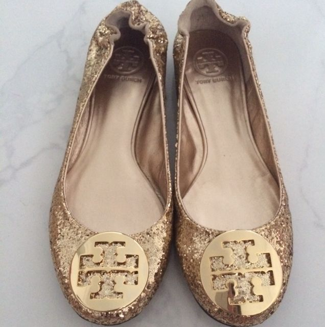 bf203f85a Price Reduced!!! BRAND NEW!! Tory Burch Shoes Flats - Reva Glitter ...