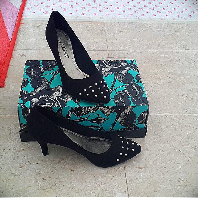 Lower East Side Kitten Heels ( Black )