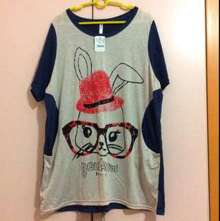 Rabbit Oversized Tee