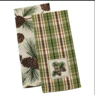 BN DII 100% COTTON PINECONE DISHTOWELS