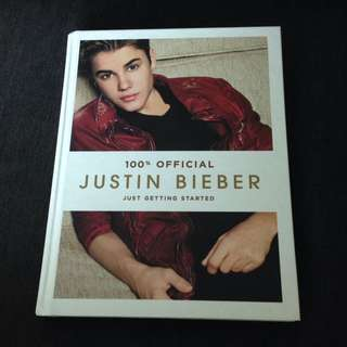 100% Official Justin Bieber Hardcover Book