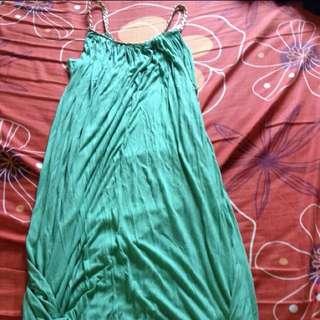 Green Midi Grecian Dress