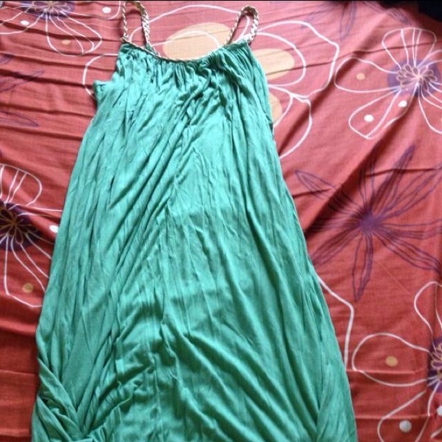 Green Midi Grecian Dress