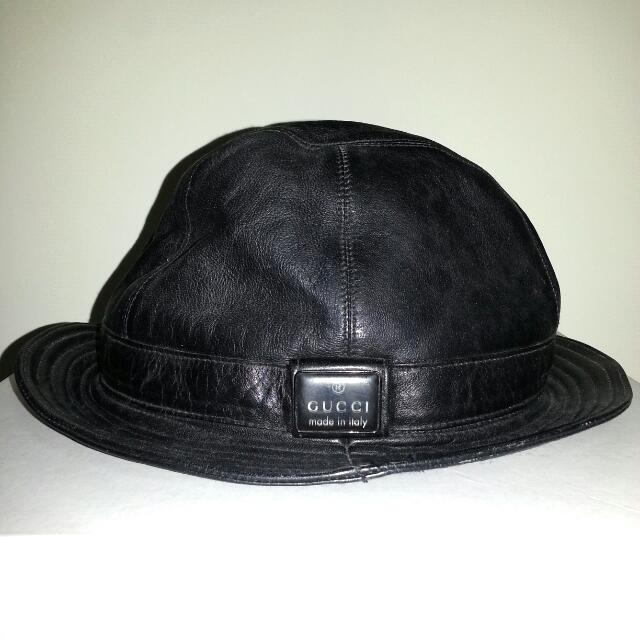 525e4a7cc337 Gucci Leather bucket hat   Fishermen Hat