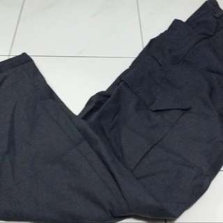 Long Grey Pants With Side Picket