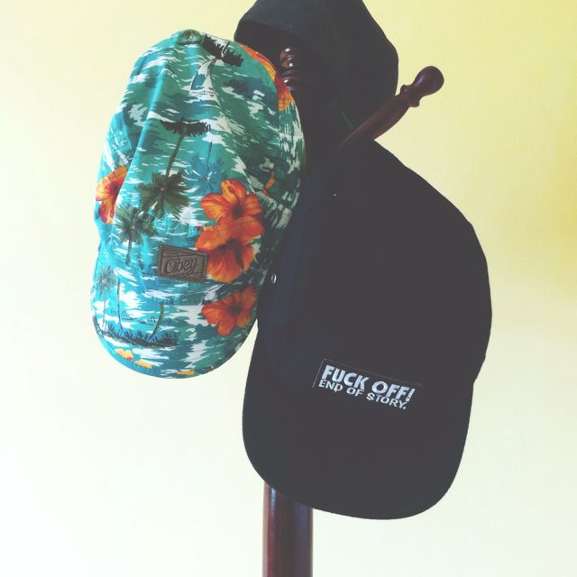 4602daccb37 Obey Inspired Tropical Cap (SOLD)   Fuck Off Snapback