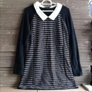 Long Sleeve Knitted Shirt Dress