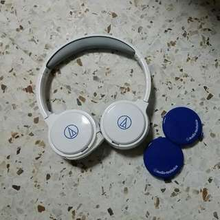 Audio Technica ATH-WM77 Headphones (White)