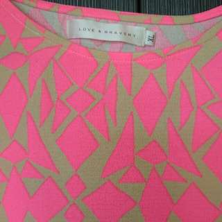 Fluorescent pink Dress From Love & Bravery XL