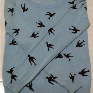 Blue Swallow Pullover
