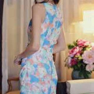 BNIB Faire Belle Aurora Watercolour Dress