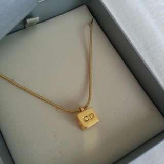 100% Authentic Dior Cube Necklace