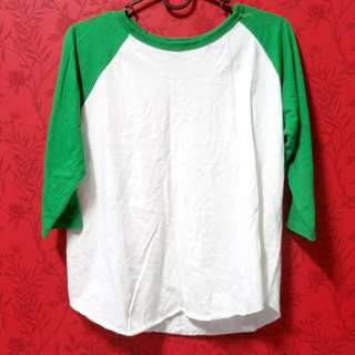 (RESERVED) Green And White Shirt