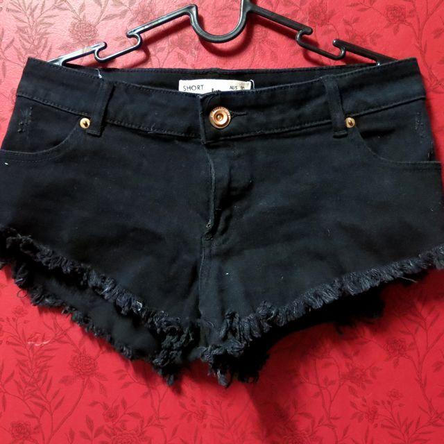 (RESERVED) Black Kitschen Shorts
