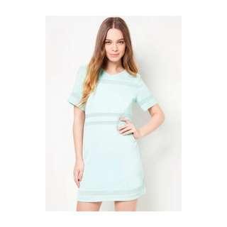 EZRA BY ZALORA - Mesh Panel Shift Dress