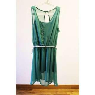 Chiffon Flowy Dress - PULL&BEAR