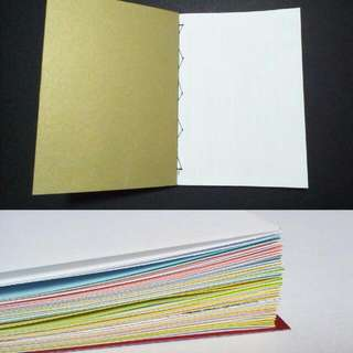 Notebooks made out of Folded Recycled Paper