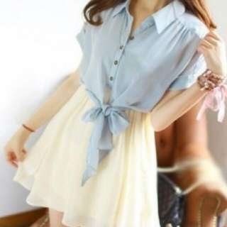 (LOOKING FOR) Denim Chiffon Dress