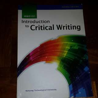 HW0101 Introduction to Critical Writing (PENDING)