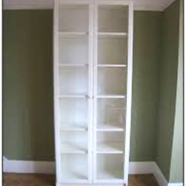 IKEA White Billy Bookcase with Glass Doors