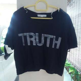 (Reserved) F21 Truth/Dare Crop Top