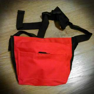 Pet Treat Pouch Bag Red