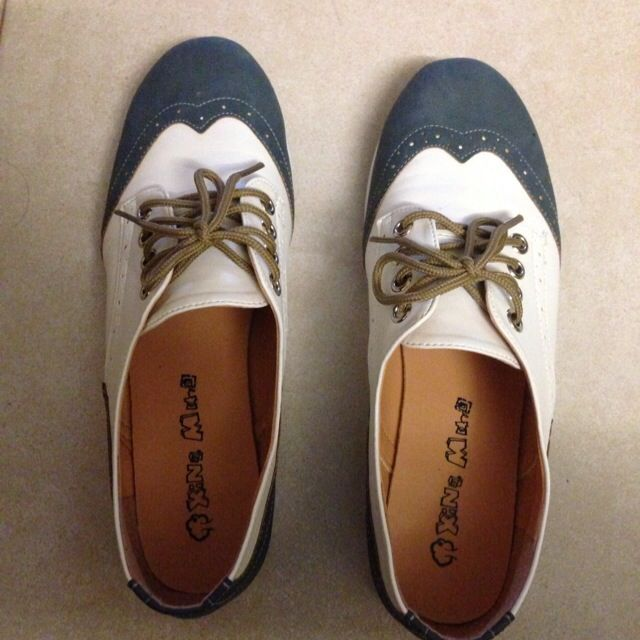 Blue and White Brogues, Women's Fashion