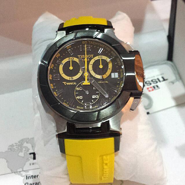 Tissot T-Race Men s Black Quartz Chronograph Watch 6b54de7daff