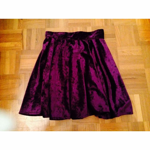 Royal Purple Velvet Skirt