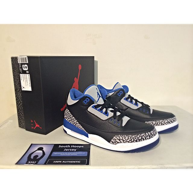 014844849126 Air Jordan 3 Retro Sports Blue